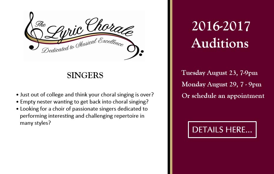 Auditions 2016-2017 Special